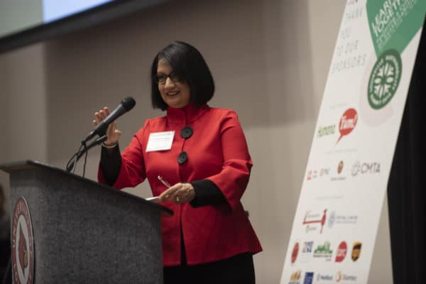 Dr. Neeli Bendapudi shared U of L's intentionality in sustainable initiatives.